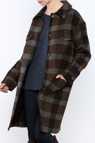 Hoss Intropia Checked Plaid Coat