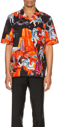 Valentino Short Sleeve Shirt in St. Infinite City Orange | FWRD