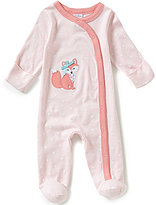 Starting Out Baby Girls Newborn-6 Months Fox-Appliqued Footed Coverall