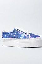 Jeffrey Campbell The Zomg Sneaker in Blue Cosmic and White