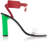Off-White Off White C/O Virgil Abloh Capri Zip Tie-Embellished Leather Sandals