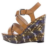 Barbara Bui Snakeskin Wedge Sandals