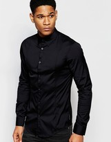 Armani Jeans Stretch Shirt with Long Sleeves Slim Fit