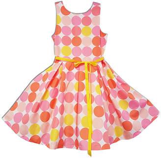 Joe Ella Girls' Polka Dot A-Line Dress