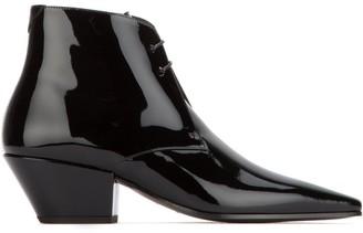 Saint Laurent Belle Lace-Up Ankle Boots