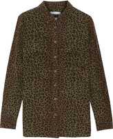 Equipment Leopard-print silk shirt