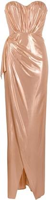 Elisabetta Franchi Draped Sweetheart Neck Dress