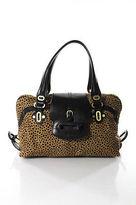 Jimmy Choo Brown Calf Hair Cheetah Print Tulita Fold Over Close Doctor Handbag
