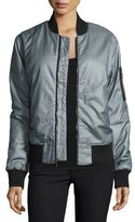 Hudson Gene Puffy Bomber Jacket, Dusty Silver