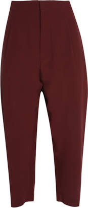 Marni Cropped Silk-crepe Tapered Pants