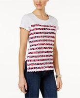MICHAEL Michael Kors Leopard-Stripe T-Shirt
