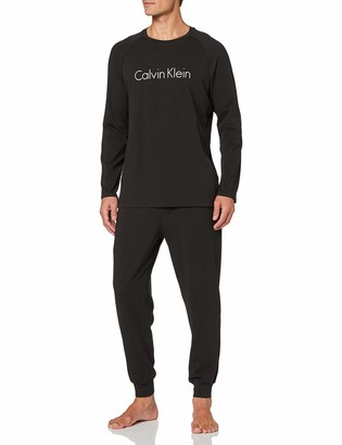 Calvin Klein Men's Knit L/s Pant Set Thermal Trousers