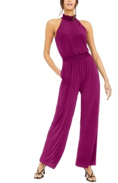 INC International Concepts Inc Smocked-Neck Jumpsuit, Created for Macy's