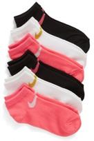Nike Girl's 6-Pack Low Cut Performance Socks