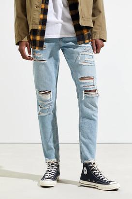 BDG Shredded Light Wash Skinny Jean
