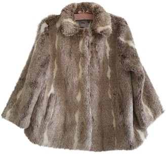 Asos Beige Faux fur Coat for Women