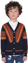 BYCR Boys' Spring Casual V-Neck Button Knitted Cardigan Sweater