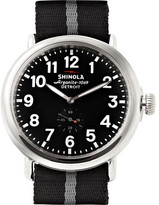 Shinola The Runwell 47mm Stainless Steel And Nylon Watch - Black