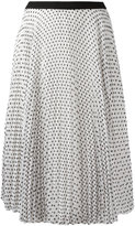 I'M Isola Marras polka dot pleated skirt - women - Polyester/Acetate/Viscose - 42