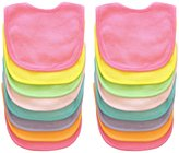 Neat Solutions 16 Pack Multi-Color Solid Knit Terry Feeder Bib, Girl