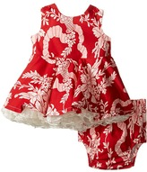 fiveloaves twofish Little Party Red Toile Ribbon Dress (Infant)