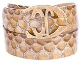 Roberto Cavalli Embossed Leather Belt