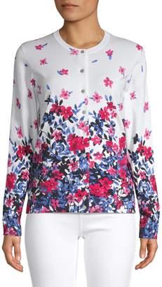 Karen Scott Riverdale Floral Cardigan