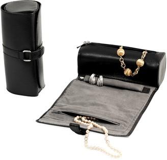 Bey-Berk Leather & Suede Jewelry Roll