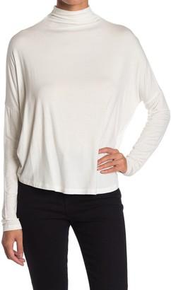 Double Zero Mock Neck Drop Shoulder Sweater