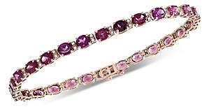 Bloomingdale's Rhodolite & Diamond Bracelet in 14K Rose Gold - 100% Exclusive