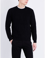 Ps By Paul Smith Cactus Cable-knit Cotton And Wool-blend Jumper