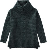 Joe Fresh Unisex Cable Knit Cowl Neck Sweater, Teal (Size S)