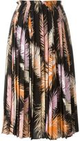 Emilio Pucci feather print pleated skirt - women - Silk - 42