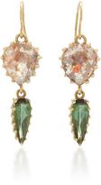 LFrank Diamond Slice and Tourmaline Drop Earrings