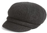 Women's August Hat Boys Are Back Boucle Newsboy Cap - Black