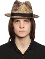 Etro Paisley Printed Straw Hat