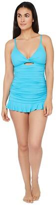 La Blanca Island Goddess Twist Keyhole Tankini Swimsuit Top (Poolside) Women's Swimwear
