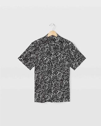 Club Monaco Camp Collar Tropical Shirt