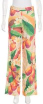 Isolda Mango Print Wide-Leg Pants