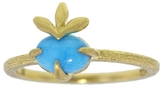 Cathy Waterman Oval Turquoise Leafy Ring
