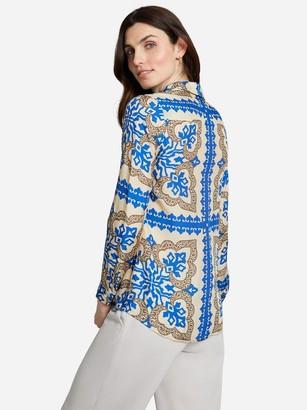 J.Mclaughlin Lois Silk Shirt in Pinwheel Patch