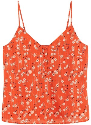 Vero Moda Floral Print Cami with Buttoned Front