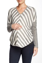 Everly Grey Maternity Hurst Striped Sweater (Maternity)