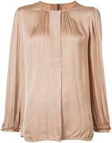 Raquel Allegra collarless blouse - women - Viscose/Cotton - 1