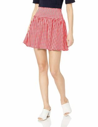 Jack by BB Dakota Women's Short Notice Yarn Dyed Gingham Smocked Skirt