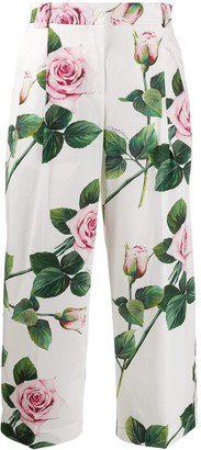 Dolce & Gabbana Floral Print Trousers