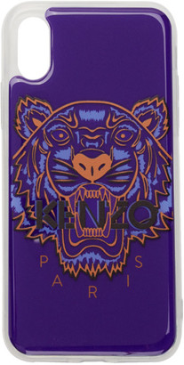 Kenzo Blue 3D Tiger Logo iPhone X/XS Case