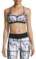 Koral Activewear Crush Versatility Sports Bra, Marble/Black
