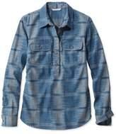 L.L. Bean Signature Denim Popover Shirt, Ikat