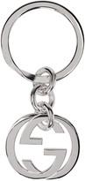 Gucci Silver Monogram Keychain